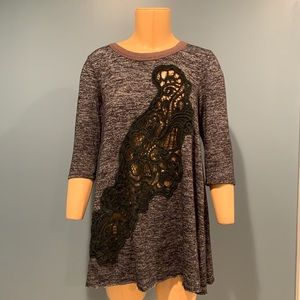 Free People Lace 3/4 Sleeve Tunic